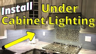 how to install under cabinet lighting in the kitchen hardwired