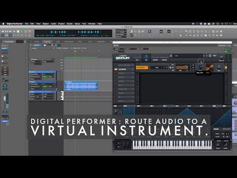 MOTU Digital Performer : Route audio to a virtual instrument