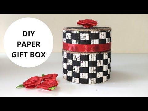 How to make gift box with Paper||  tape roll craft || IRIS Craft corner 29
