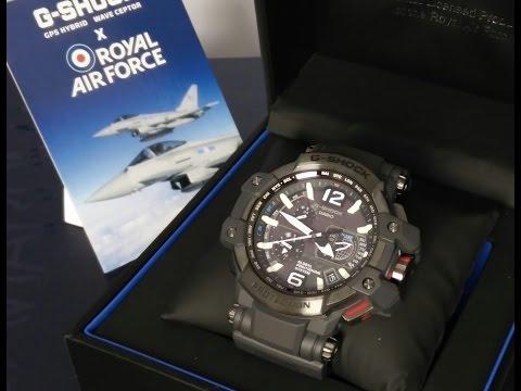 Casio GShock review GPW-1000RAF-1AER RAF, royal air force, carbon fiber. HD