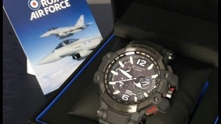 Casio GShock review GPW-1000RAF-1AER RAF, royal air force, carbon fiber. HD