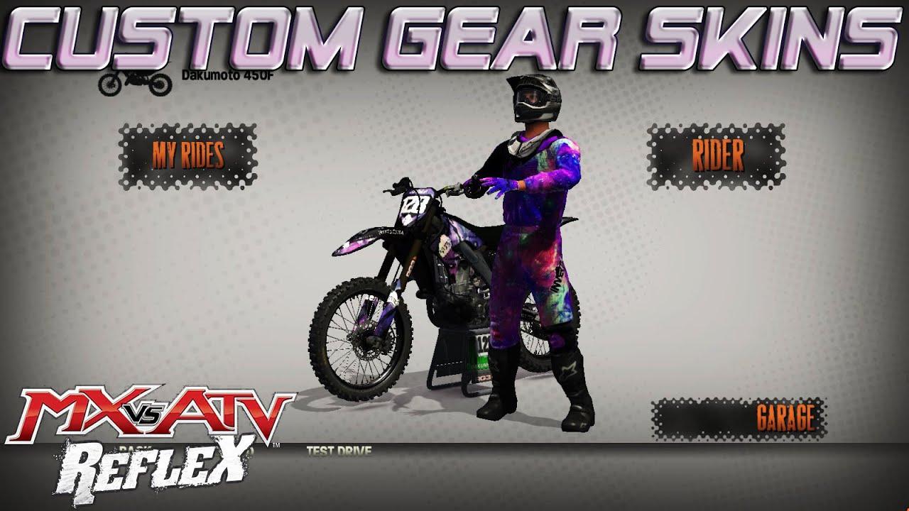 2017 Nvrtd Gear Mx Vs Atv Reflex Custom Skins Youtube