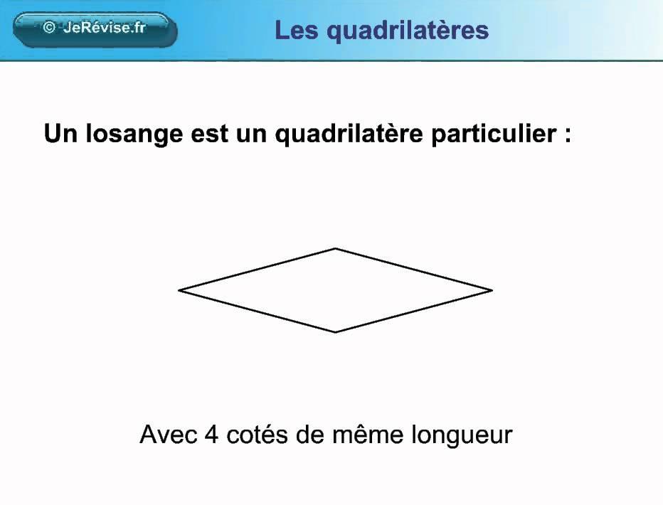 Les quadrilat res carr rectangle et losange pour le ce1 for Qu est ce qu un bardage