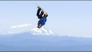 How to do a Cross Rocket Backflip Grab with Phil Hansen   TransWorld SNOWboarding Grab Directory