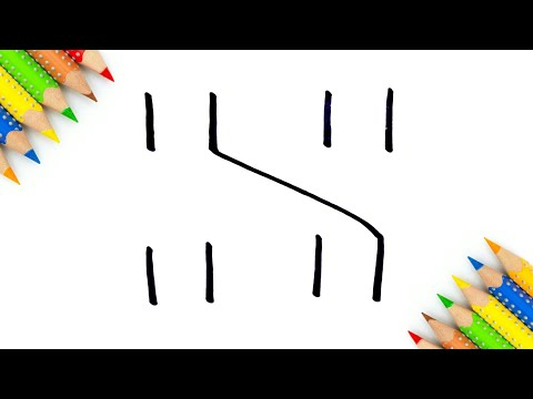 Easy Drawing ! how to draw letter S from 1111 step by step doodle art for kids learning
