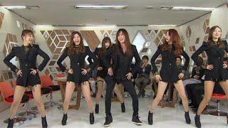 걸그룹(미쓰에이,여자친구,씨스타,에이프릴,EXID,오마이걸,소녀시대,태연,우주소녀)노래에 경호형뿌리기