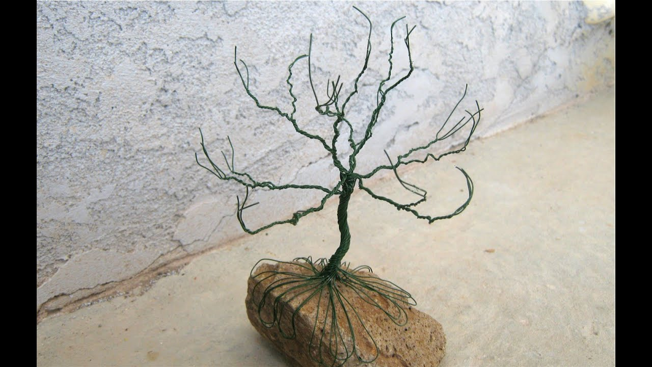 how to make a wire holiday tree - YouTube