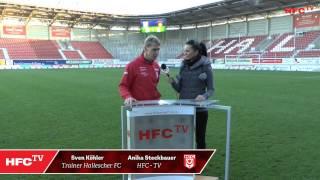 17.  Spieltag: Interviews nach dem Spiel Hallescher FC - SG Sonnenhof Großaspach