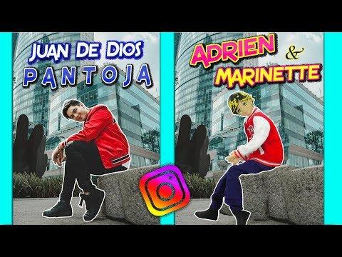 Marinette imita fotos de Juan de Dios vs Kenia Os con Adrien Pantoja