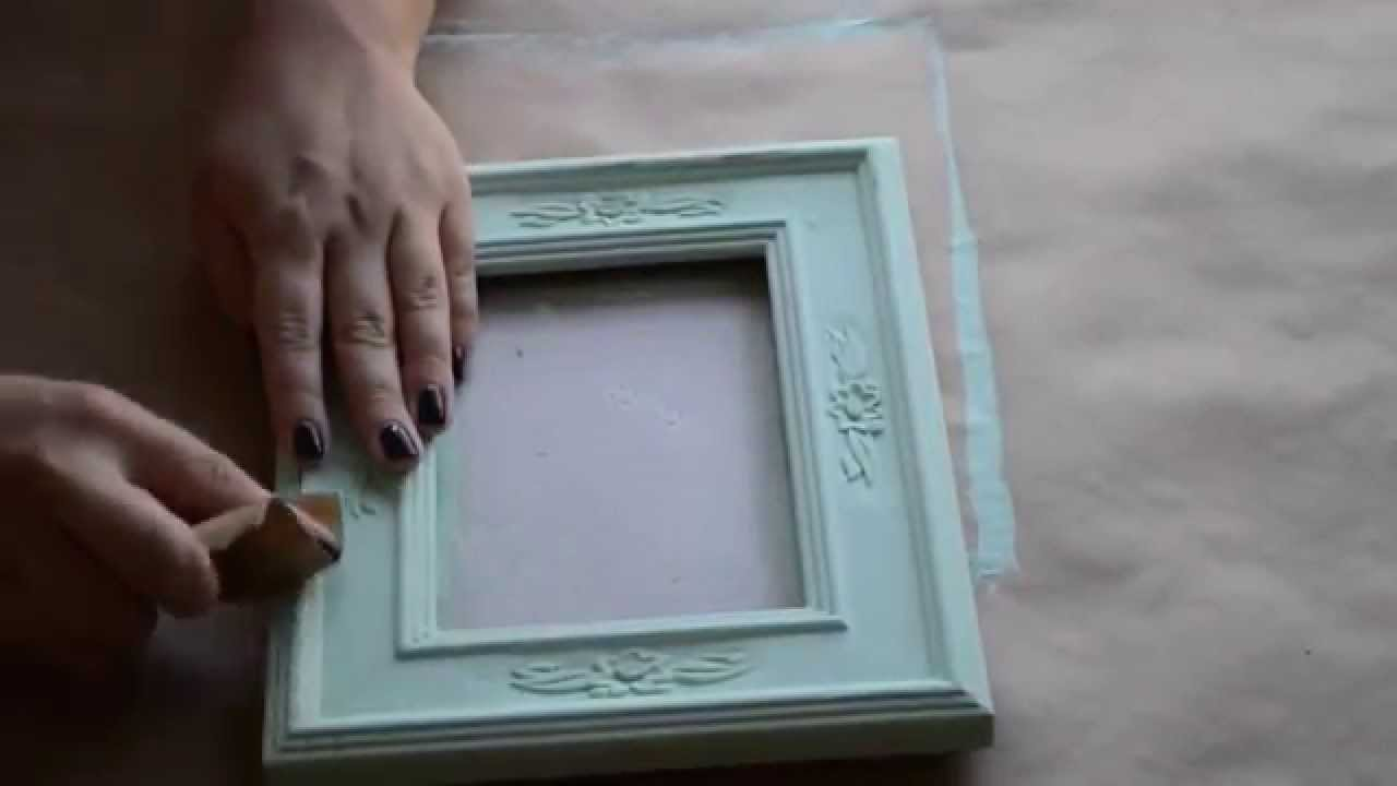Vintage /Distressed Frame Tutorial - YouTube