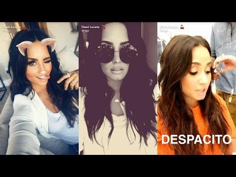 Demi Lovato   Snapchat Story   12 June 2017   Singing Despacito