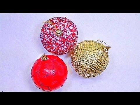 Manualidades para navidad 3 esferas youtube - Esferas de navidad ...