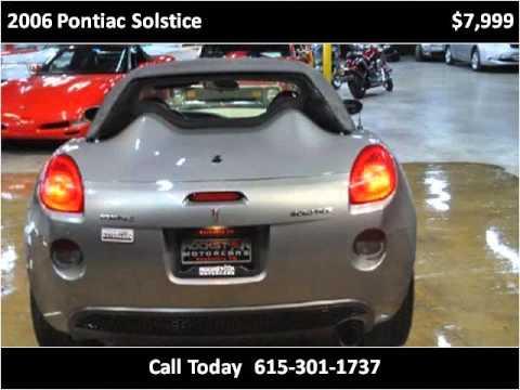 2006 Pontiac Solstice Used Cars Nashville TN
