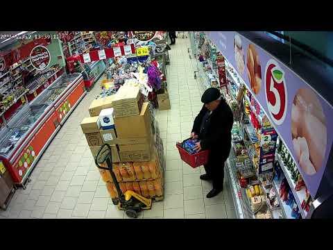 КАК КАВКАЗЦЫ ВОРУЮТ В ПЯТЕРОЧКЕ. Грузин спрятал корзину масла и колбасы в свой ПИДЖАК.