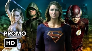 the superheroes of the cw promo hd