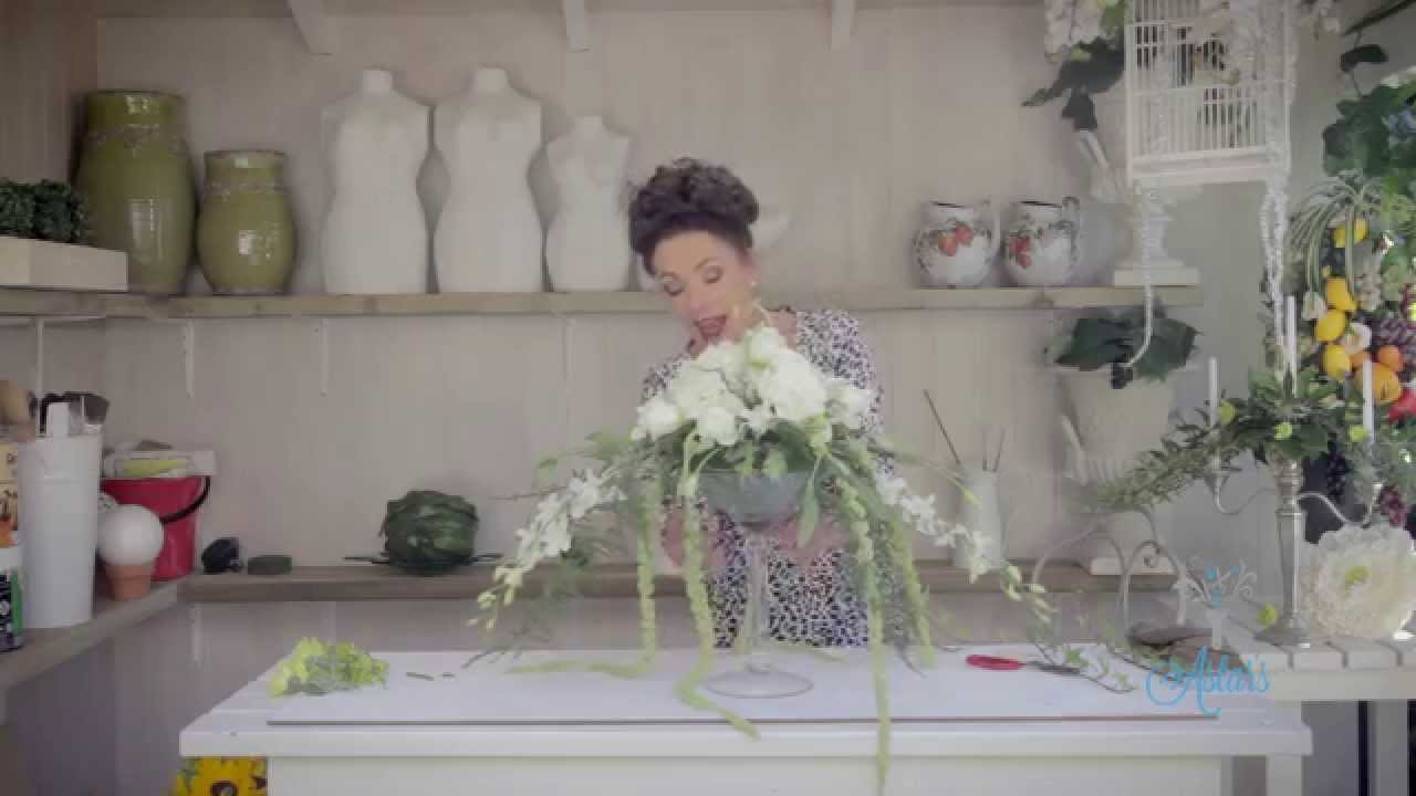 Martini Glass Flower Arrangement Floristry Tutorial - YouTube