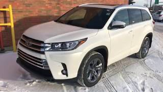 2019 Toyota Highlander Limited - review of features and full walk around.