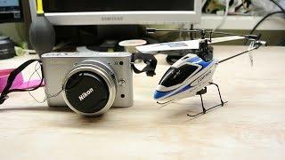 Ремонт объектива nikon 1 р/у вертолетом.