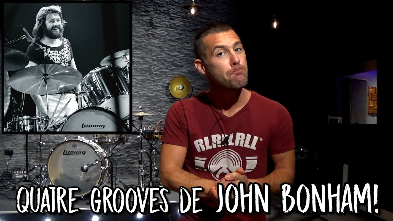 Download Cours de batterie : Quatre grooves de John Bonham !