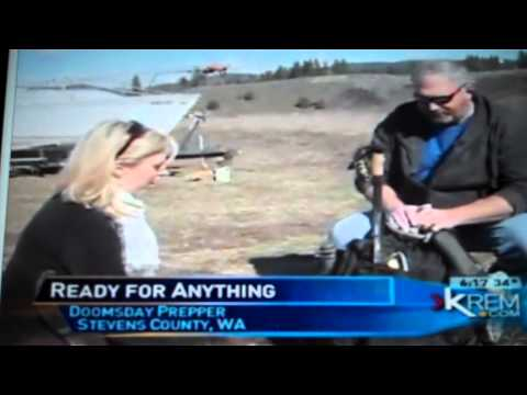 CBS news interview doomsday prepper from national geographic T.V. Watch out zombies!