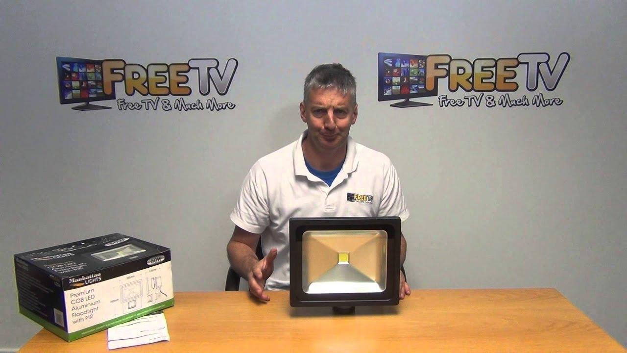 10W 30W 50W 100W LED Flood Light PIR Motion Sensor Safety Flood Light Outdoor