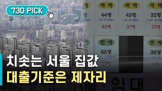치솟는 서울 집값…대출기준은 제자리