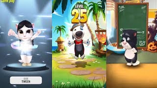 My Talking Angela VS My Talking Tom VS My Talking Hank Gameplay Great Makeover for Children HD