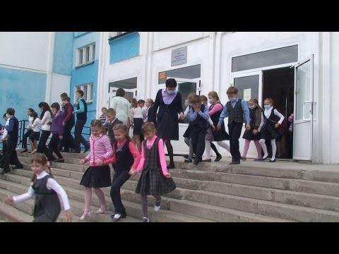 ОБЖ на практике: школа №7 эвакуировалась за три минуты