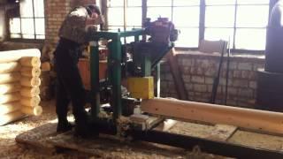Работа цеха производства оцилиндрованного бревна(, 2013-03-06T17:07:10.000Z)