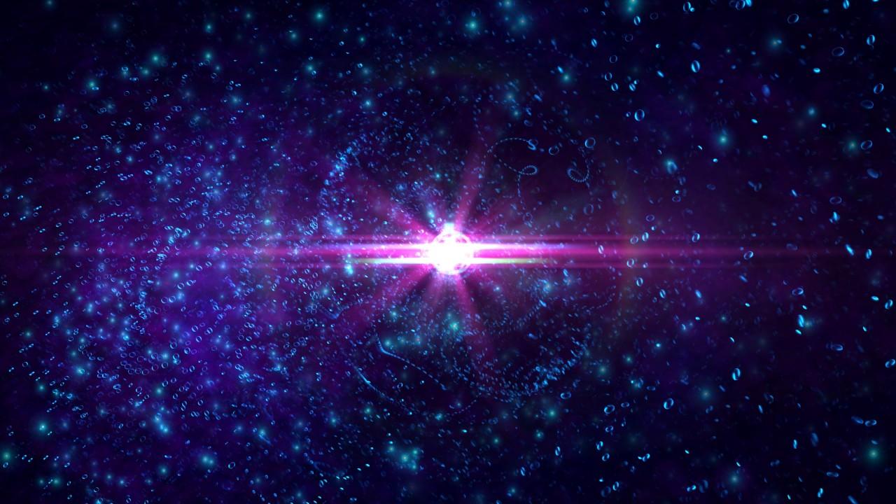 4K *Blue Nebula Space Center Flare* 2160p Motion ...