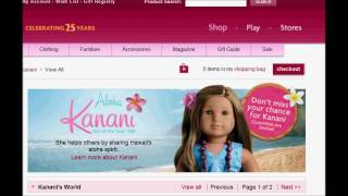 american girl doll of the year 2011 Kanani many iteams sold out KANANI DOLL SOLD OUT