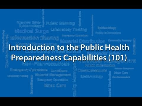 Introduction to the Public Health Preparedness Capabilities (101)