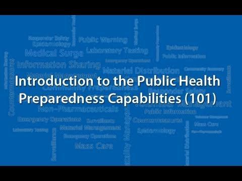 Introduction to the Public Health Preparedness Capabilities (101)