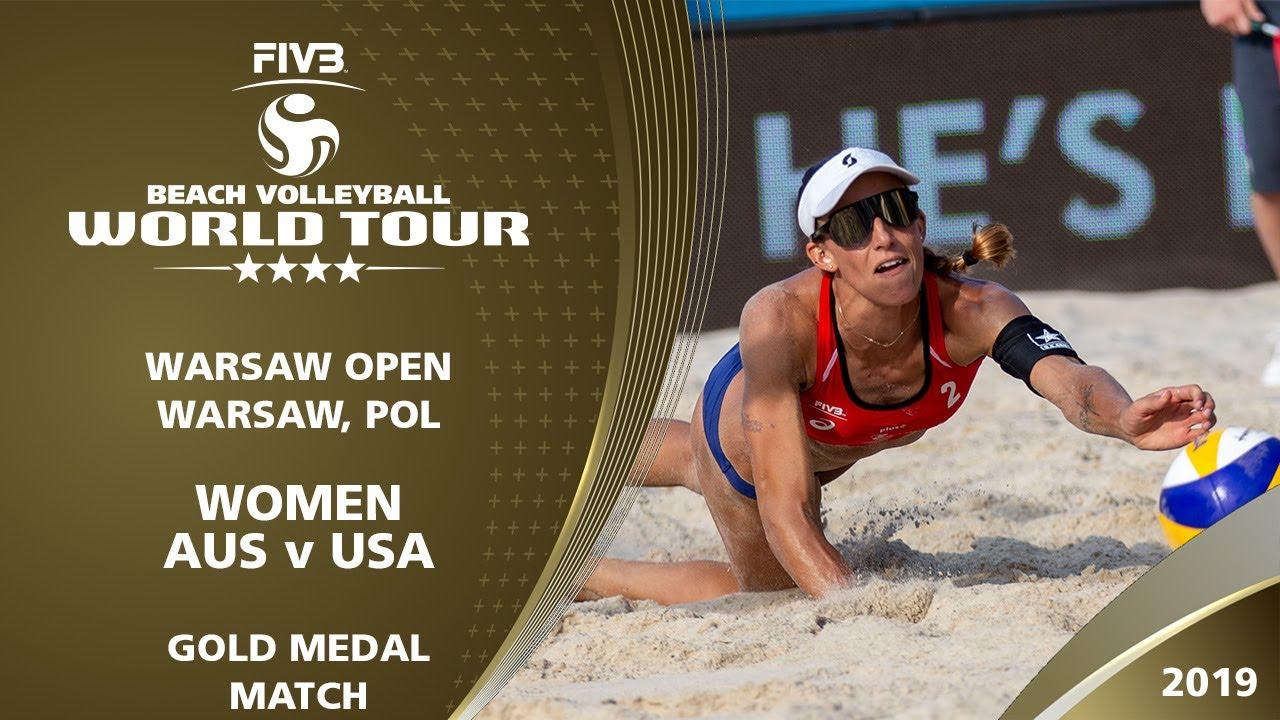 Women's Gold Medal: AUS vs USA | 4* Warsaw (POL) -  2019 FIVB Beach Volleyball World Tour