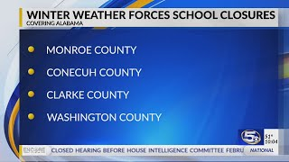 VIDEO: School closures as of Monday evening