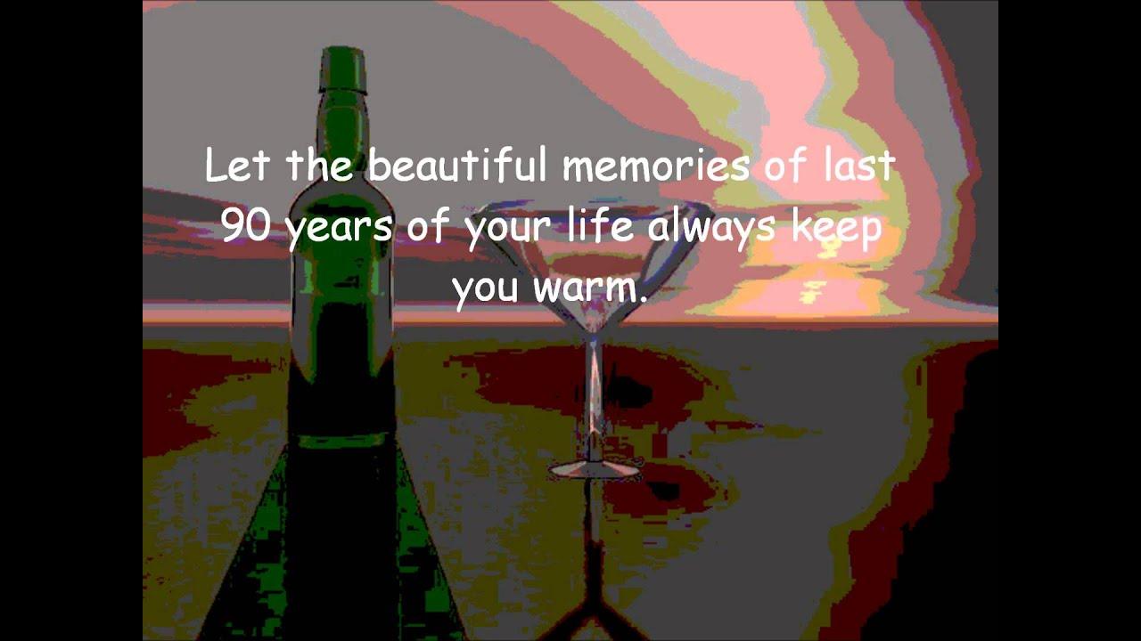 Happy 90th birthday greeting beautiful message youtube happy 90th birthday greeting beautiful message m4hsunfo