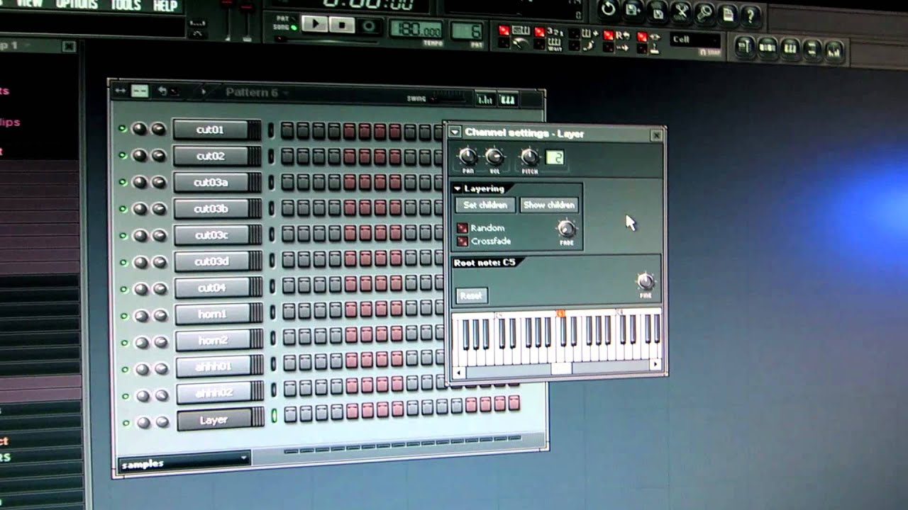 Assigning sounds to keys in FL Studio