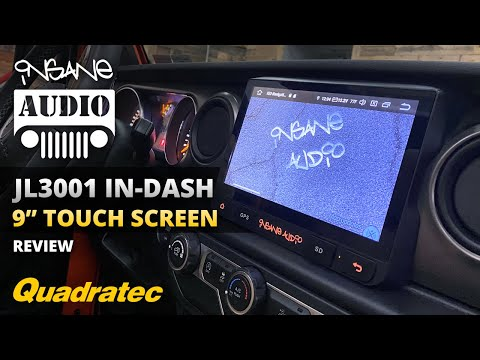 Insane Audio JL30019-inch In-Dash Touch Screen Navigation System For Jeep Wrangler JL & Gladiator JT