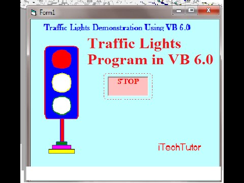 Learn Visual Basic 6 0 (VB6)- Road Traffic lights Animated system -Step by  Step Tutorial