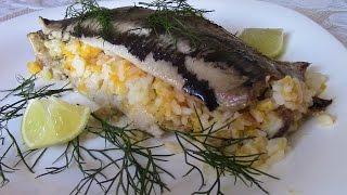 Сельдь запеченная с рисом и овощами. Придумала и сделала! Fish