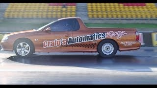 CRAIGS AUTOMATICS RACING V8 COMMODORE UTE 11.37 @ 120 MPH SYDNEY DRAGWAY 11.12.2013