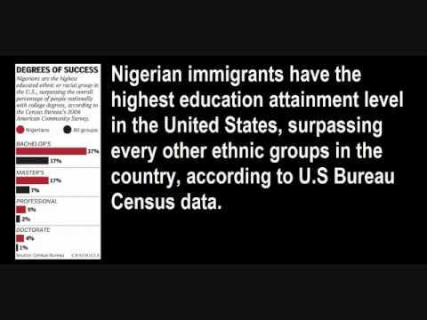Nigerian Immigrants, Highest Education Attainment In U.S., Over All