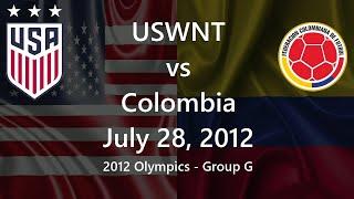 USWNT vs Columbia July 28, 2012