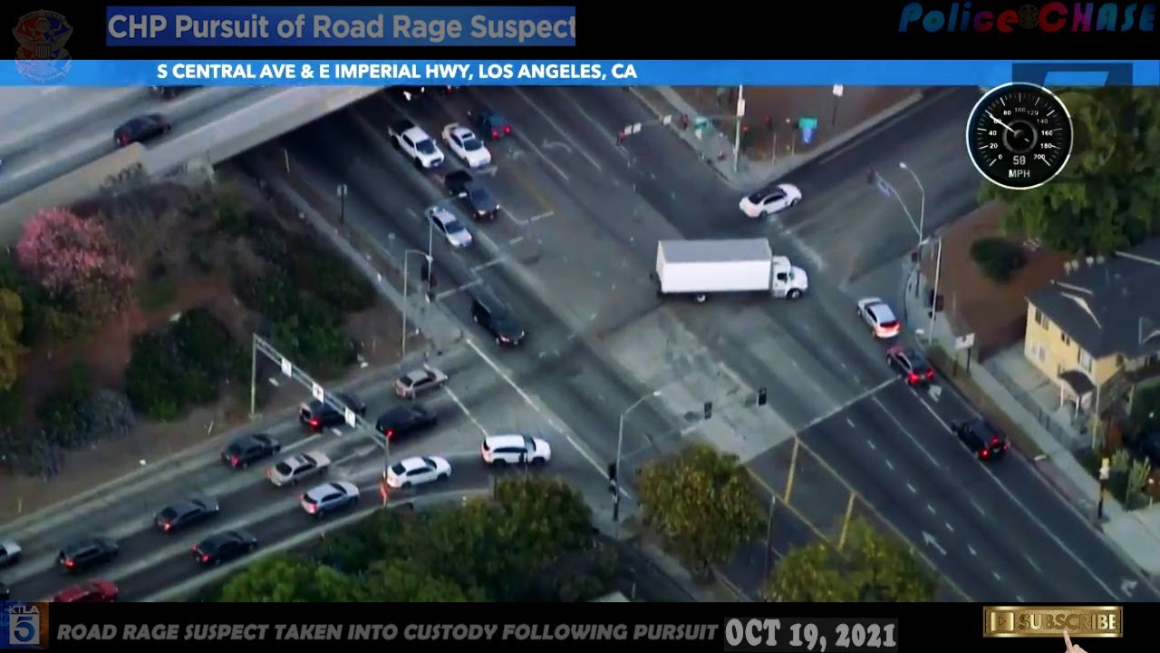 """Download """"LA""""Police chase suspect weaves through traffic going the wrong way (OCT 19 2021)Road Rage Suspect"""