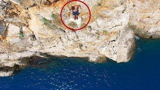 30 METREDEN DENİZE ATLADIM !! (Cliff Jumping)