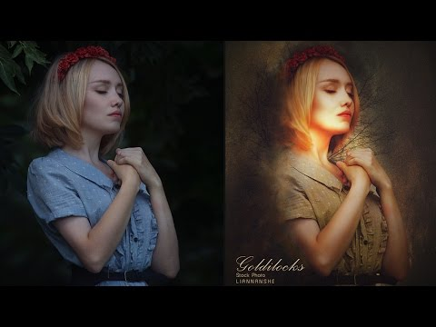 Digital Art Photoshop Tutorial Goldilocks Photo Effect