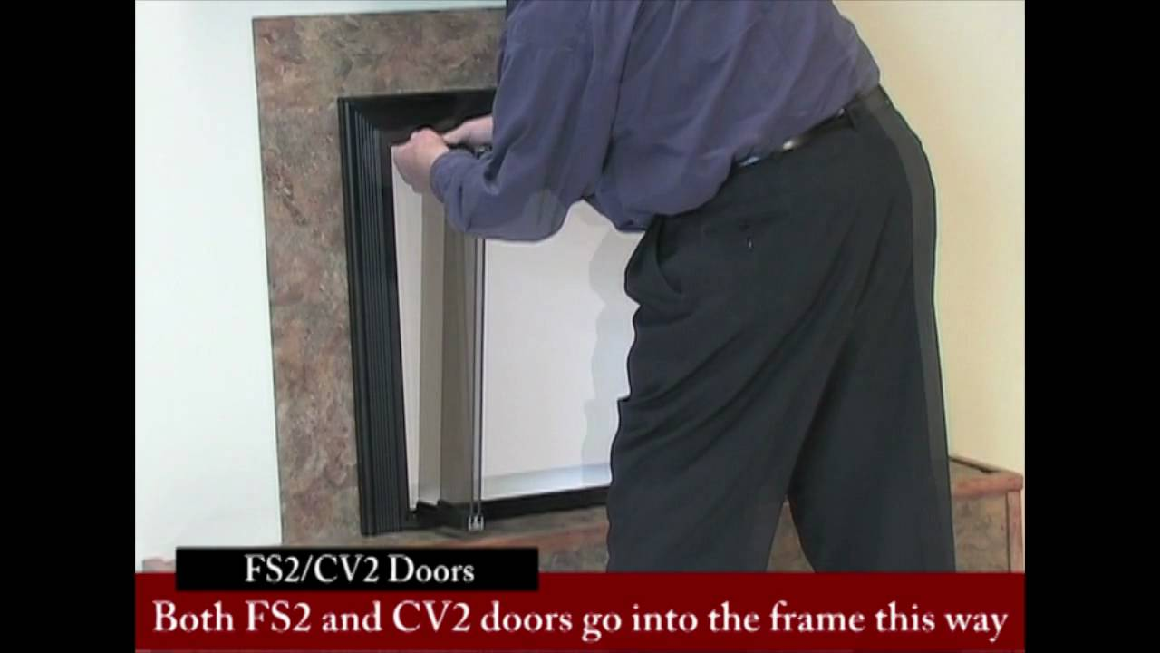 bifold fireplace glass doors tracked vs trackless free swing