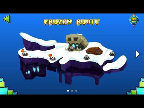 FROZEN ROUTE 100% (1-5 Levels) (Test Fan-Made) | Geometry Dash World | New Island