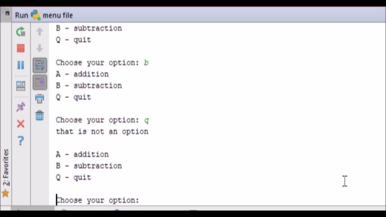 creating a basic terminal menu - python 3 4 - user selection - YouTube