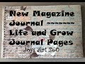 Created New Magazine Journal and Two Art Journal Pages using Acrylic Paint and Ephemera